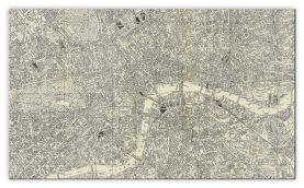 Huge A-Z Historical Canvas Map Central London (Canvas)