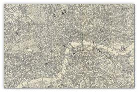 Medium A-Z Historical Canvas Map Central London (Canvas)
