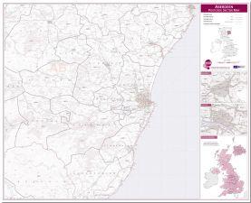 Aberdeen Postcode Sector Map (Pinboard)
