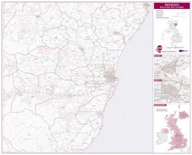 Aberdeen Postcode Sector Map (Raster digital)