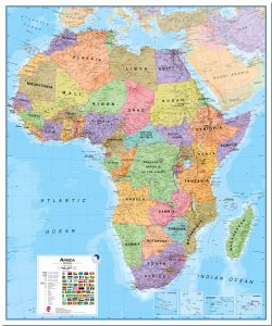 Large Africa Wall Map Political (Pinboard)