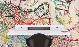 Wallpaper Watercolour Map of London