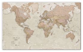 Small Antique World Map (Canvas)