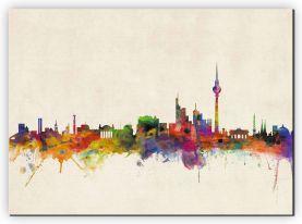 Extra Small Berlin City Skyline (Canvas)
