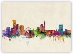 Extra Small Birmingham City Skyline (Canvas)