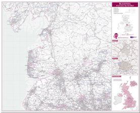 Blackpool Postcode Sector Map (Pinboard)