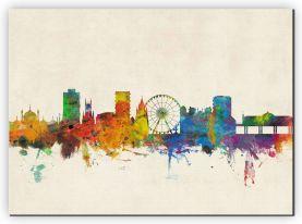 Large Brighton City Skyline (Canvas)