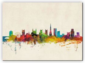 Large Bristol City Skyline (Canvas)