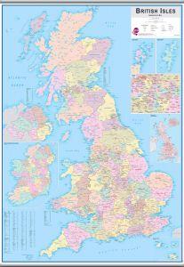 Large British Isles Administrative Map (Hanging bars)