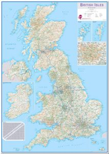 Large British Isles Routeplanning Map (Pinboard)