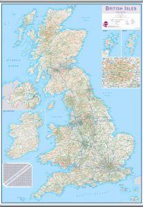 Large British Isles Routeplanning Map (Hanging bars)