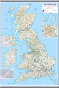 Medium British Isles Routeplanning Map (Hanging bars)