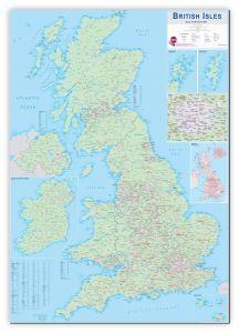 Large British Isles Sales and Marketing Map (Canvas)