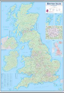 Large British Isles Sales and Marketing Map (Hanging bars)