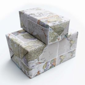 Small Classic World Map Gift Wrapping Paper (Other)