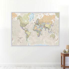 Large Classic World Map (Laminated)