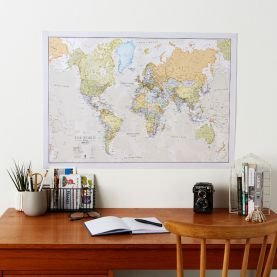 Medium Classic World Map (Laminated)