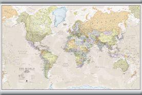Medium Classic World Map (Hanging bars)