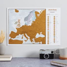 Scratch Europe Print A3 (Silk Art Paper)