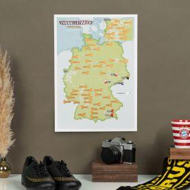 Scratch Off German Football Grounds Print (Silk Art Paper)