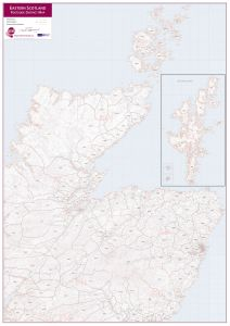 East Scotland (incl. Orkney and Shetlands) Postcode District Map (Raster digital)
