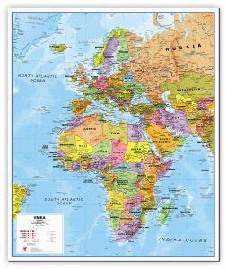 Europe Middle East Africa (EMEA) Political Map (Canvas)