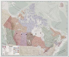 Huge Executive Canada Wall Map (Pinboard)