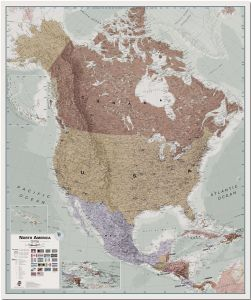 Huge Executive North America Wall Map Political (Pinboard)
