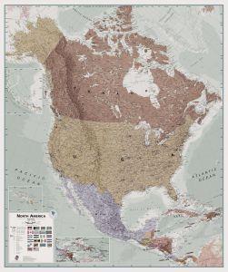 Executive North America Wall Map Political