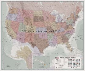 Executive USA Wall Map