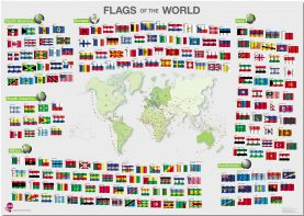 Flags of the World poster (Pinboard)