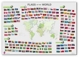 Flags of the World poster (Canvas)