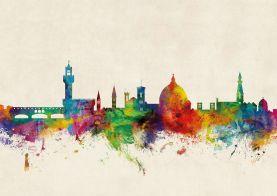 Florence Watercolour Skyline
