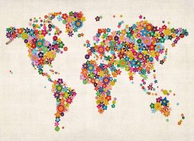 Flower Map of the World