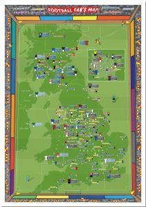Large Football Fan's Stadium Map (Pinboard)