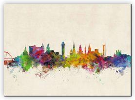 Large Glasgow City Skyline (Canvas)