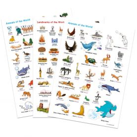 Illustrated Animals and Landmarks Stickers (Other)