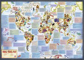 Illustrated Trivia World Map (Silk Art Paper)
