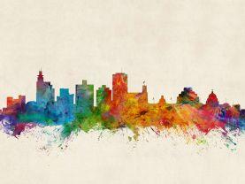 Jackson Mississippi Watercolour Skyline