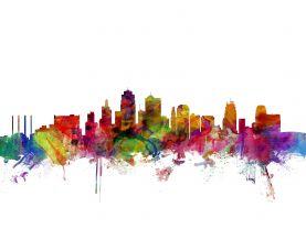 Kansas City Watercolour Skyline