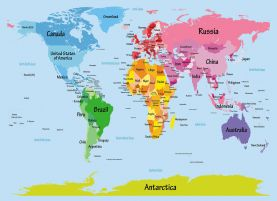 Kids Big Text Map of the World