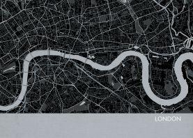 London City Street Map Print Charcoal