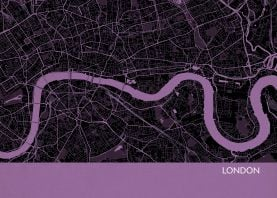 London City Street Map Print Mauve