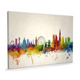 Extra Small London City Skyline (Canvas)