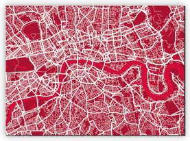 Medium London Street Art Map (Canvas)