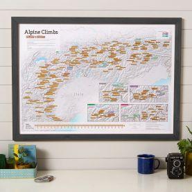 Scratch Off Alpine Climbs Print