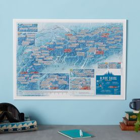 Scratch Off Alpine Skiing Print (Silk Art Paper)