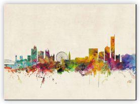 Large Manchester City Skyline (Canvas)