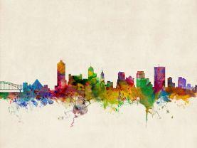 Memphis Tennessee Watercolour Skyline