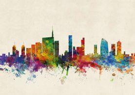 Milan Watercolour Skyline